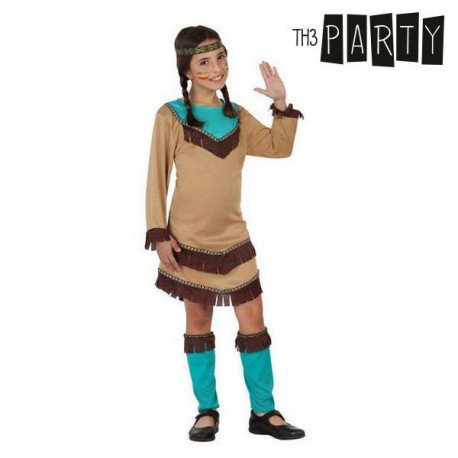 Costume for Children Indian woman Blue (4 Pcs) 10-12 Years