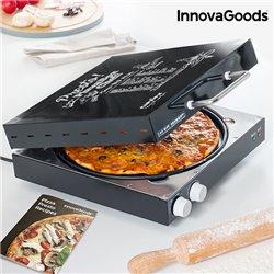 Pizzera Eléctrica con Recetario Presto! InnovaGoods 1200W Negro