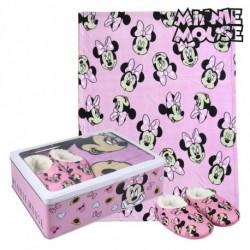 Minnie Mouse Boîte Métallique avec Couverture et Chaussons 73671 3-4 Ans