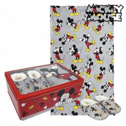 Mickey Mouse Caixa Metálica com Manta e Chinelos 73668 3-4 Anos