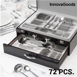 Cubertería de Acero Inoxidable Cook D'Lux InnovaGoods (72 Piezas)