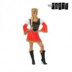 Costume for Adults Russian woman Red (2 Pcs) XL