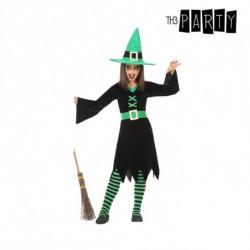 Costume per Bambini Strega Verde (3 Pcs) 3-4 Anni