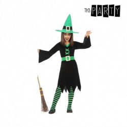 Costume for Children Witch Green (3 Pcs) 5-6 Years