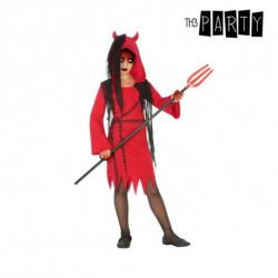 Costume for Children Female demon Red Black (4 Pcs) 5-6 Years