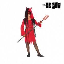 Disfraz para Niños Demonia Rojo Negro (4 Pcs) 5-6 Años