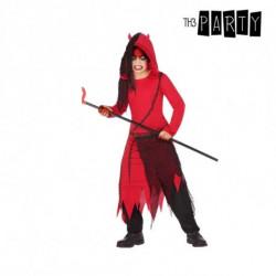 Costume per Bambini Demonio Rosso Nero (4 Pcs) 7-9 Anni