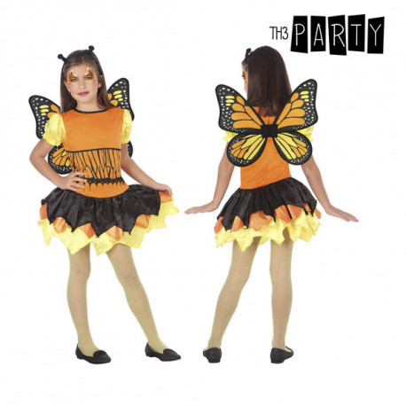 Costume for Children Butterfly Orange (3 Pcs) 5-6 Years