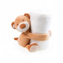 Manta Polar Infantil com Peluche Urso (100 X 75 cm) 144721 Urso