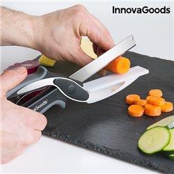 Couteau-Ciseau avec Mini Planche à Découper Intégrée InnovaGoods