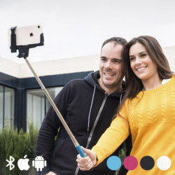 Bluetooth Selfie Monopod Rosa