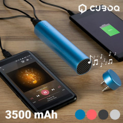 Power Bank con Altavoz CuboQ 3500 mAh Rosa