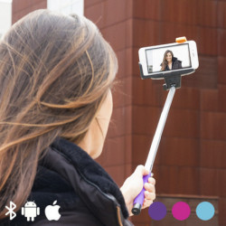 Bastão para Selfies com Bluetooth para Telemóveis Azul