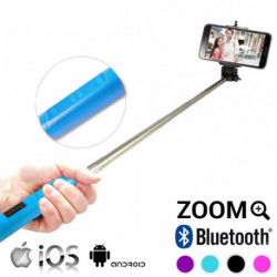 Bluetooth Selfie Stick with Zoom Pink
