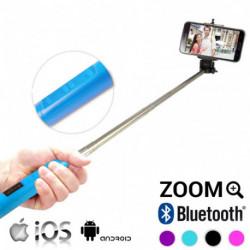 Perche Selfie Bluetooth avec Zoom Rose
