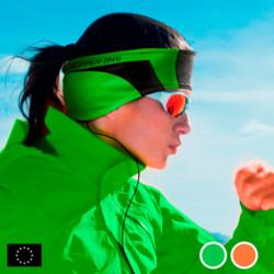 GoFit Sportstirnband mit Kopfhörern Grün