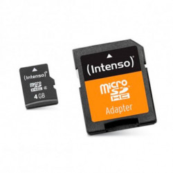 INTENSO Mikro SD Speicherkarte mit Adapter 3413450 4 GB Klasse 10