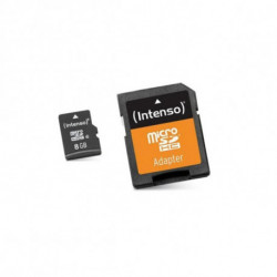 INTENSO Micro SD Memory Card with Adaptor 3413460 8 GB Class 10