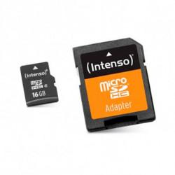 INTENSO Cartão de Memória Micro SD com Adaptador 3413470 16 GB Classe 10