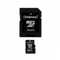 INTENSO Cartão de Memória Micro SD com Adaptador 3413490 64 GB Classe 10