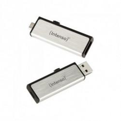 INTENSO USB und Mikro USB Stick 3523470 16 GB Silber