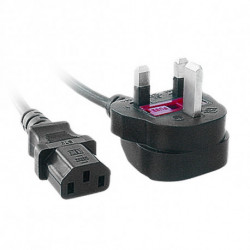 iggual IGG311141 câble électrique Noir 1,8 m BS 1363 Coupleur C13