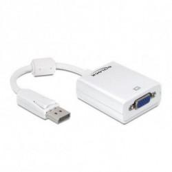 DELOCK Adaptador DisplayPort a VGA 61766 12,5 cm