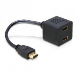 DELOCK HDMI to 2x HDMI Adapter 65056 20 cm