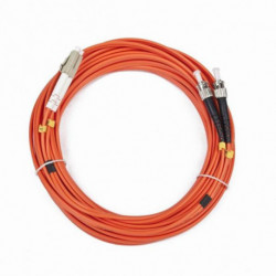 iggual IGG311561 fibre optic cable 10 m OM2 LC ST Orange