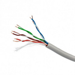 iggual 100m Cat5 UTP cabo de rede U/UTP (UTP) Cinzento PSIUPC-5004E-SO/100C