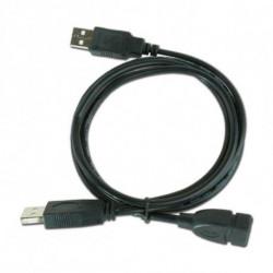 iggual IGG312049 cable USB 0,9 m 2.0 USB A 2 x USB A Negro