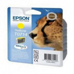Epson Cheetah Singlepack Yellow T0714 DURABrite Ultra Ink C13T07144021