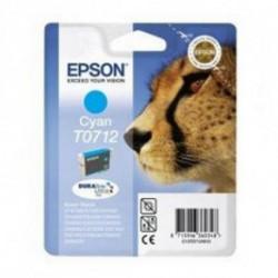 Epson Cheetah Singlepack Cyan T0712 DURABrite Ultra Ink C13T07124011