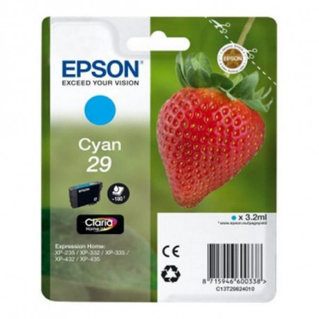 Epson Cartuccia ad Inchiostro Originale C13T298240 Ciano
