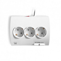 Ewent EW3935 power extension 1.5 m 5 AC outlet(s) Indoor White