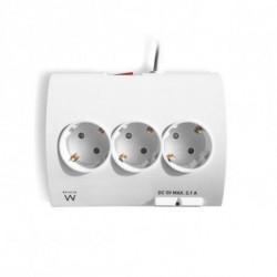 Ewent EW3935 prolunghe e multiple 1,5 m 5 presa(e) AC Interno Bianco