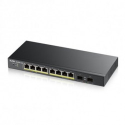 Zyxel GS1900-10HP Gerido L2 Gigabit Ethernet (10/100/1000) Preto 1U Apoio Power over Ethernet (PoE) GS1900-10HP-EU0101F