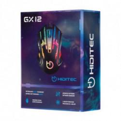Hiditec GX12 mouse USB Ottico 2400 DPI Mano destra GMO010002