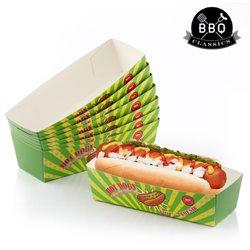 BBQ Klassiker Set Hotdog Behälter (8er Pack)