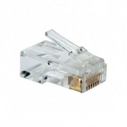 NANOCABLE Conector RJ45 Categoría 5 UTP 10.21.0101 10 pcs Gris
