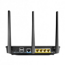 ASUS RT-AC66U router wireless Dual-band (2.4 GHz/5 GHz) Gigabit Ethernet Nero 90IG0300-BM3000