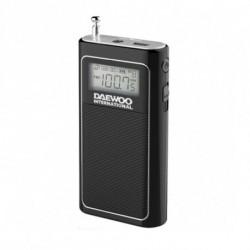 Daewoo Rádio Portátil DRP 125 Preto