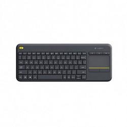 Logitech K400 Plus Tastatur RF Wireless QWERTY Spanisch Schwarz 920-007137