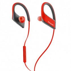 Panasonic Auriculares Bluetooth com microfone para prática desportiva RP-BTS30E Vermelho