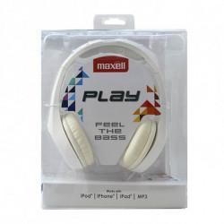 Maxell Auricolari Play MXH-HP500 Bianco Diadema