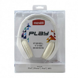 Maxell Auriculares Play MXH-HP500 Blanco Diadema