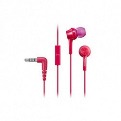 Panasonic Auriculares com microfone RP-TCM105E in-ear Cor de rosa