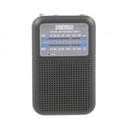 Daewoo Radio Portatile DRP-8B Nero