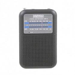 Daewoo Tragbares Radio DRP-8B Schwarz