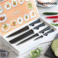 InnovaGoods Swiss·Q Namiutsu Black Shark Knife Set (4 Pieces)